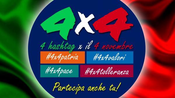 4 novembre: i giovani sono protagonisti con l'iniziativa 4x4