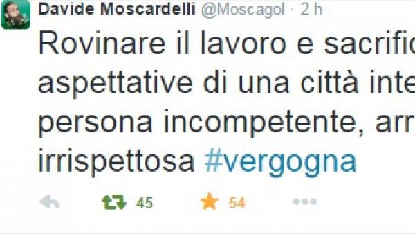Decisioni shock del Giudice Sportivo: 5 giornate per Moscardelli