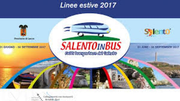 Salentoinbus 2017: al via il servizio dal 1° giugno